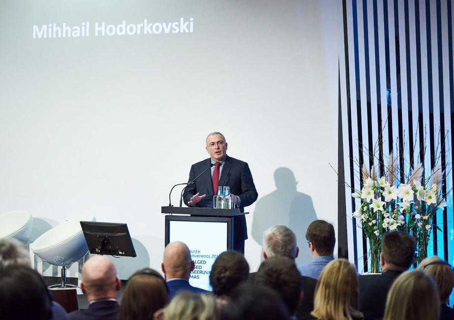 Речь Михаила Ходорковского наежегодной конференции Института прав человека вТаллине