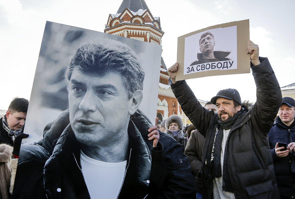 Марш памяти политика Бориса Немцова вЯрославле, 27февраля 2016. Фото: Сергей Метелица/ ТАСС