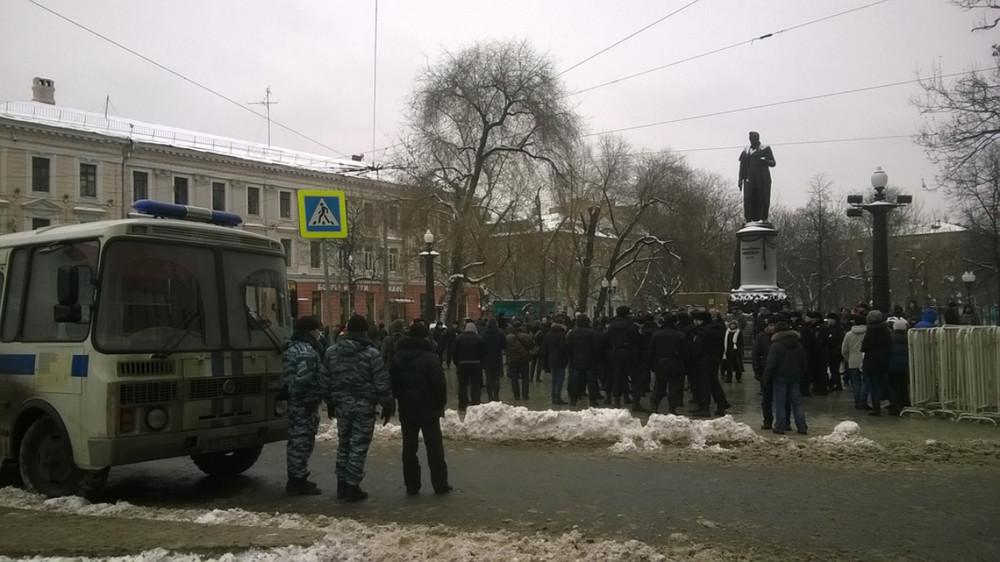 Несколько десятков участников несогласованной акции задержаны в столицеРФ