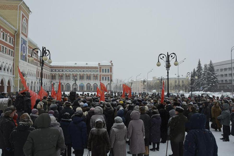 ВМарий Элмонетизацию льгот встретили протестом