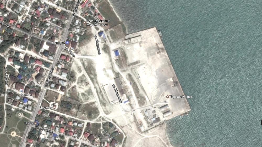 Кадр соспутника сизображением места, где будет марина ипорт. Источник: Google maps