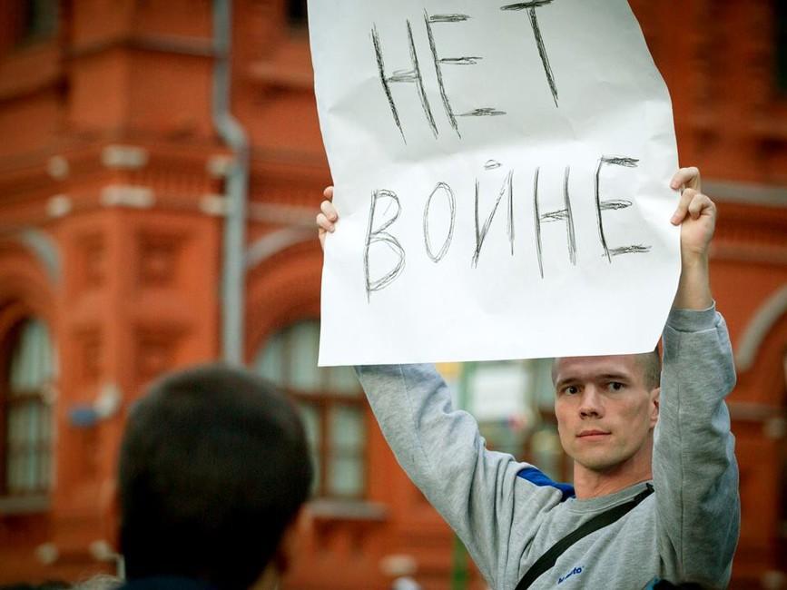 Ильдар Дадин спикетом наМанежной площади вМоскве. Фото: Facebook