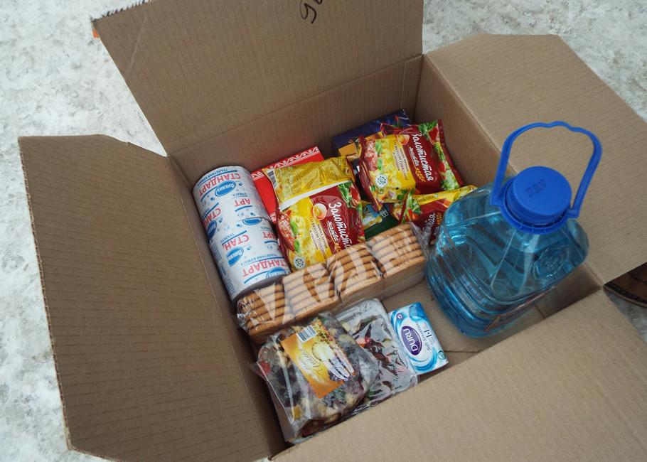 Посылка спродуктами питания исредствами гигиены. Фото: Никита Телиженко