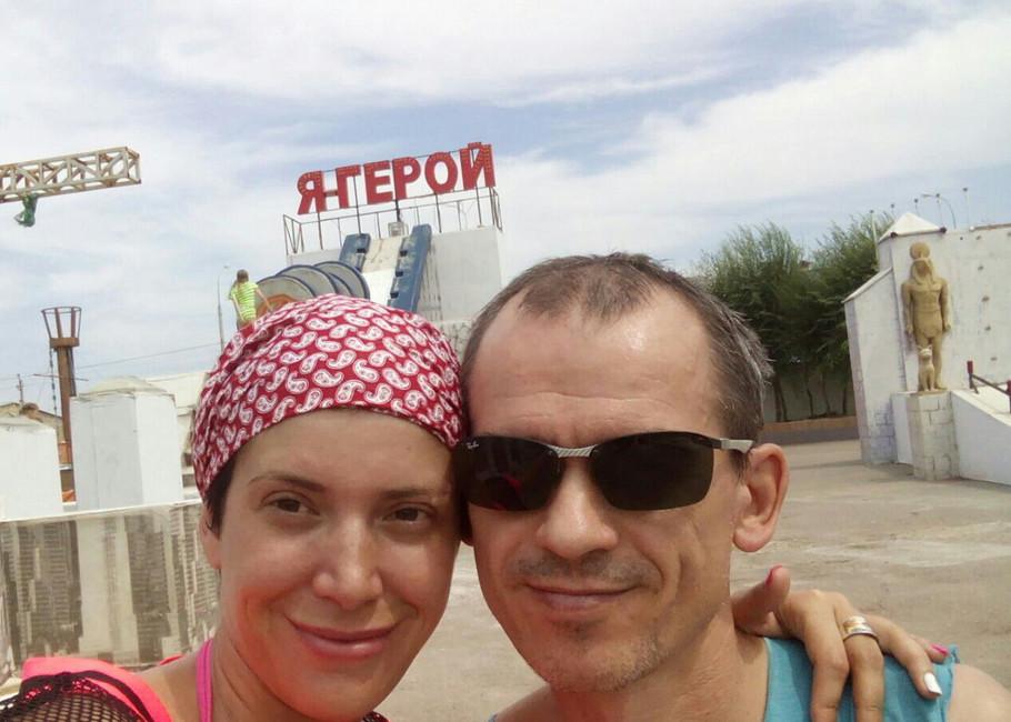 Подполковник полиции Александр Левадный вместе сосвоей женой Кристиной Левадной. Фото: Вконтакте