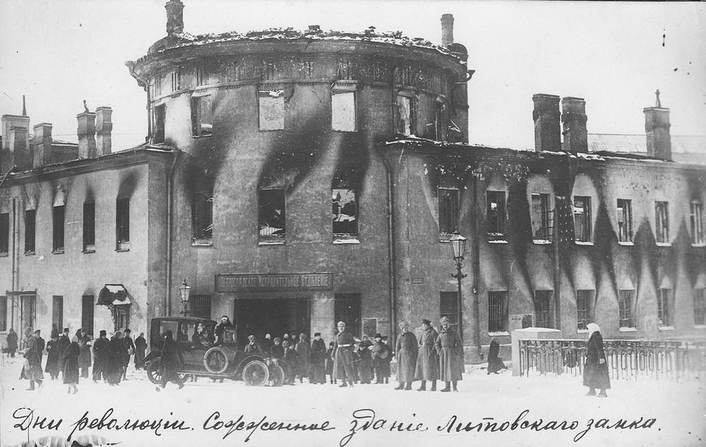Сожженый Литовский замок