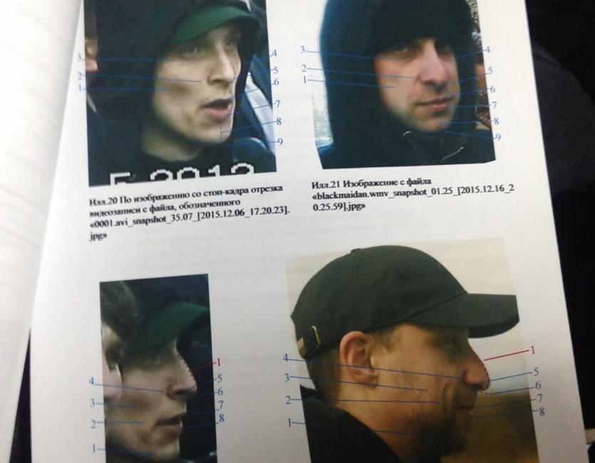 Фото изпортретной экспертизы поделу Бученкова— cлева человек взеленом козырьке, справа Дмитрий Бученков. Источник: Медиазона