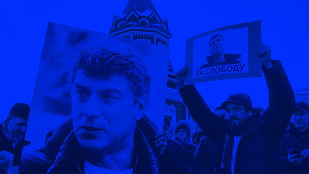 Акции памяти Бориса Немцова. Онлайн