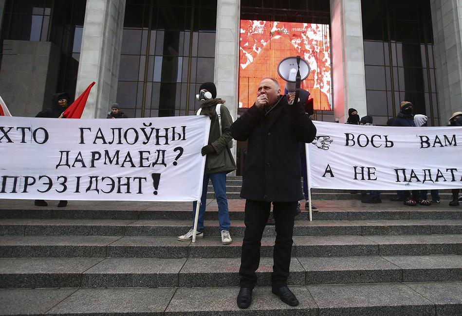 Акция протеста вМинске, февраль 2017года. Фото: Vasily Fedosenko/ Reuters