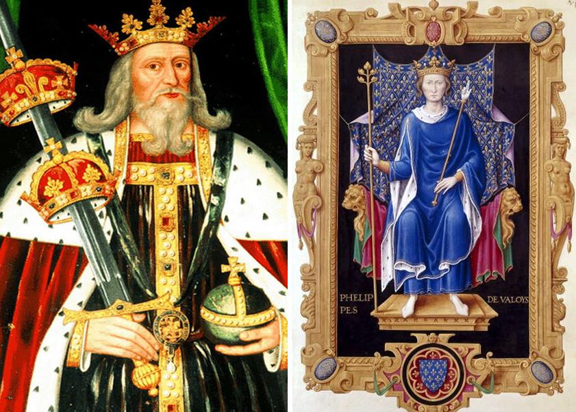 Король Эдуард III иКороль Филипп VIде Валуа
