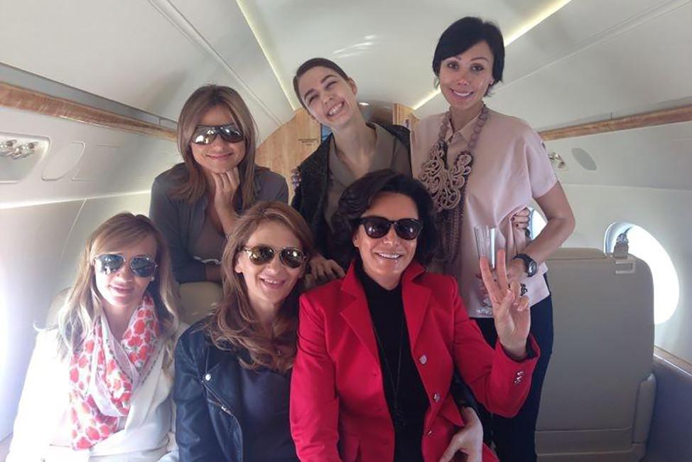Вчастном самолете напути вДубай. Фото: Facebook