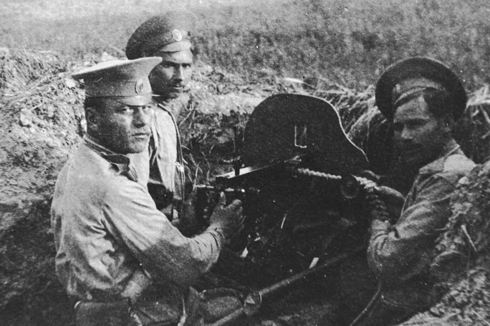 Солдаты русской армии вовремя первой мировой войны, 1914год. Фото: ИТАР-ТАСС