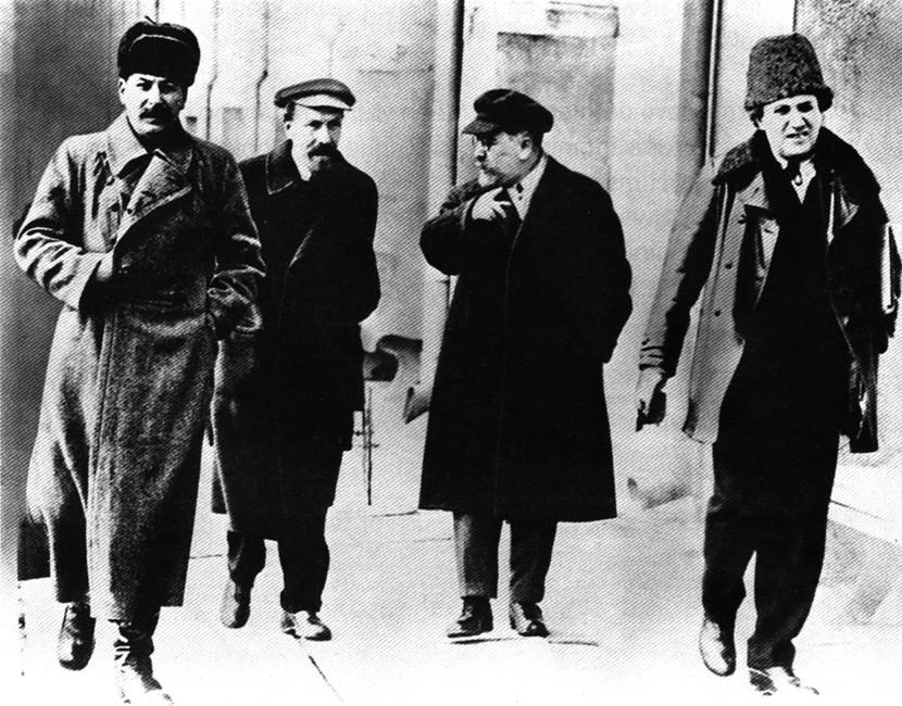 Сталин, Рыков, Каменев, Зиновьев