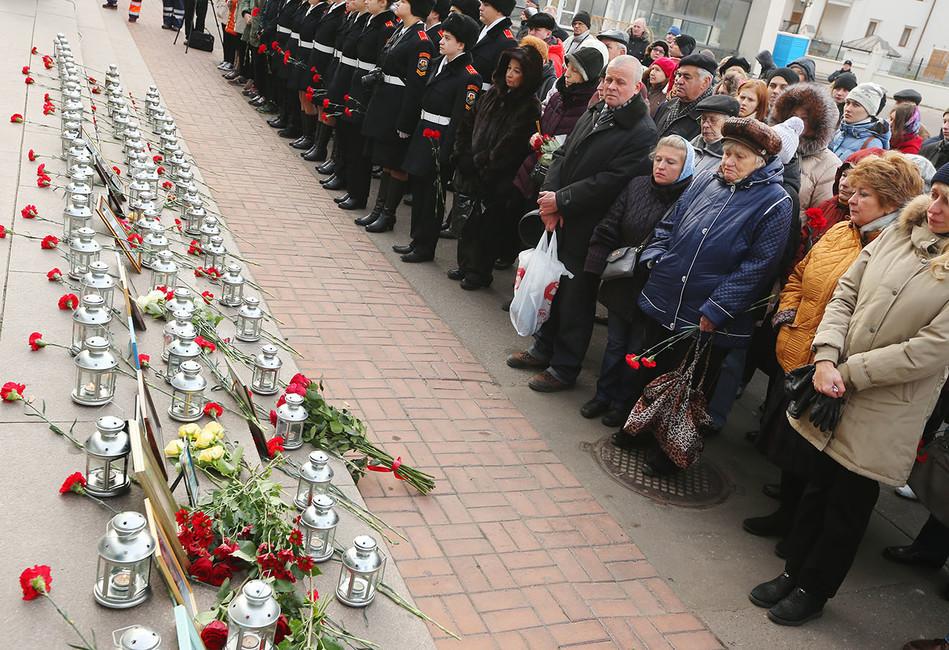 Вовремя акции памяти, посвященной 14-й годовщине трагических событий вТеатральном центре наДубровке. Фото: Дмитрий Серебряков/ ТАСС