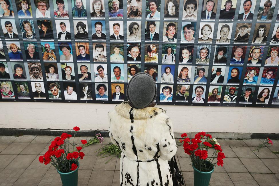 Акция памяти, посвященная 14-й годовщине трагических событий наДубровке. Фото: Дмитрий Серебряков/ ТАСС