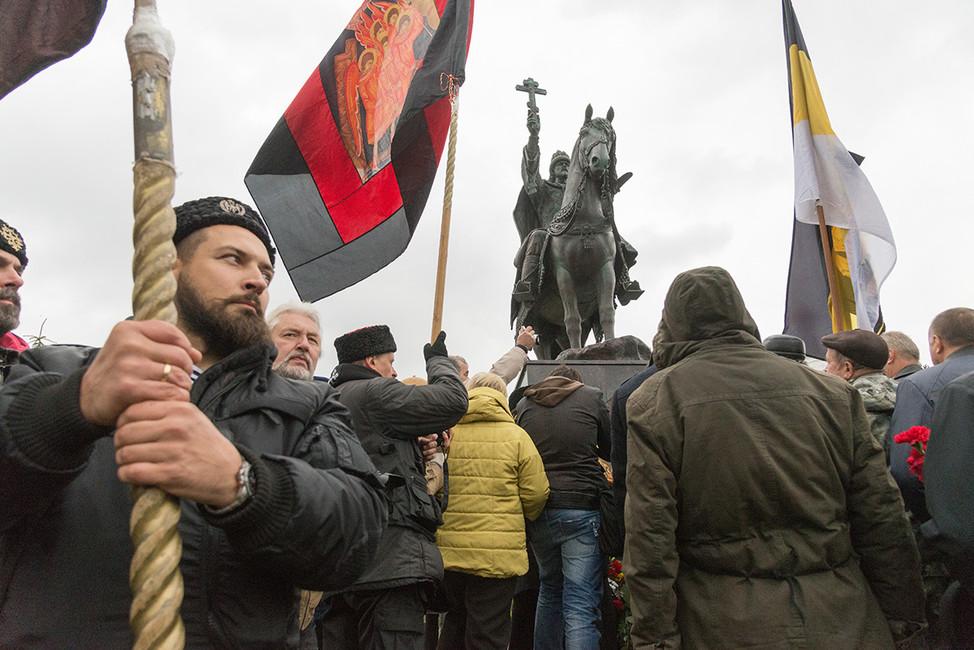 Церемония открытия памятника Ивану Грозному вОрле. Фото: Олег Харсеев/ Коммерсантъ