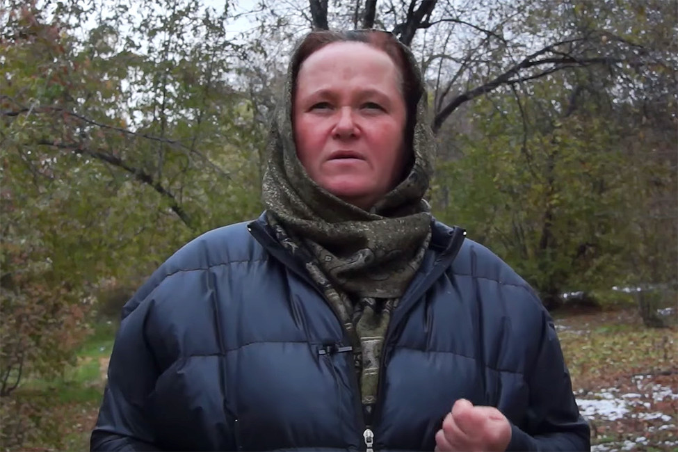 Елена Абубакарова вовремя обращения кРамзану Кадырову