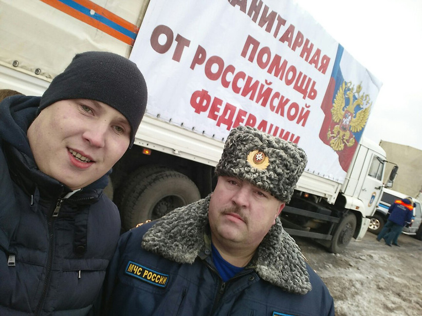 Представитель «Землячества Донбасса» вЛипецке Сергей Черезов (слева). Источник: myrotvorets.center