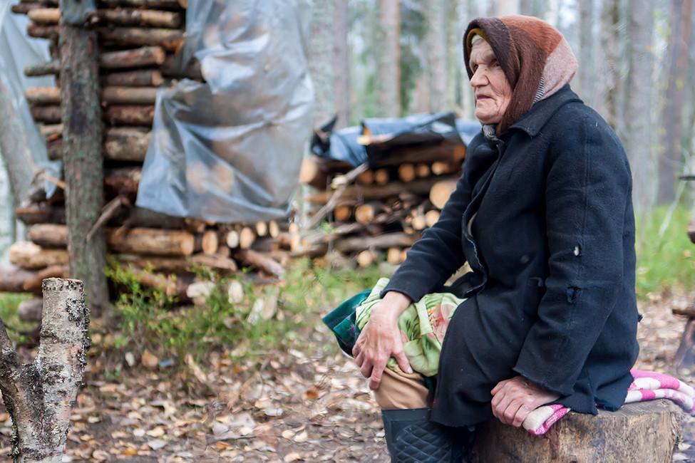 Нина Маккоева влагере «сунских партизан». Фото: Игорь Подгорный/ ТАСС