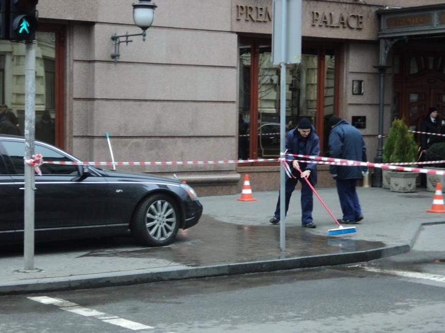 Наместе убийства Дениса Вороненкова. Фото: Елена Боровская