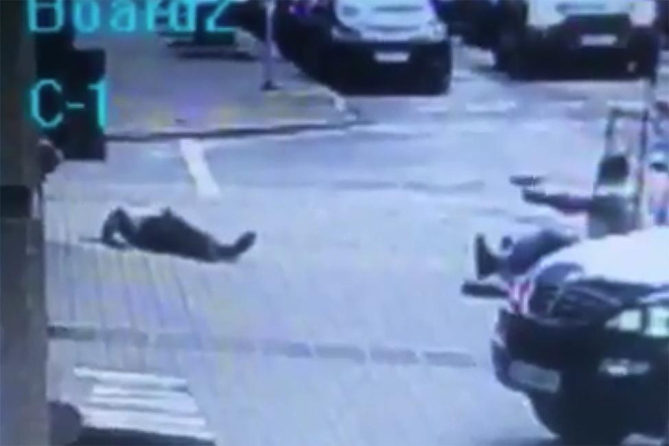 Кадр извидео убийства Дениса Вороненкова