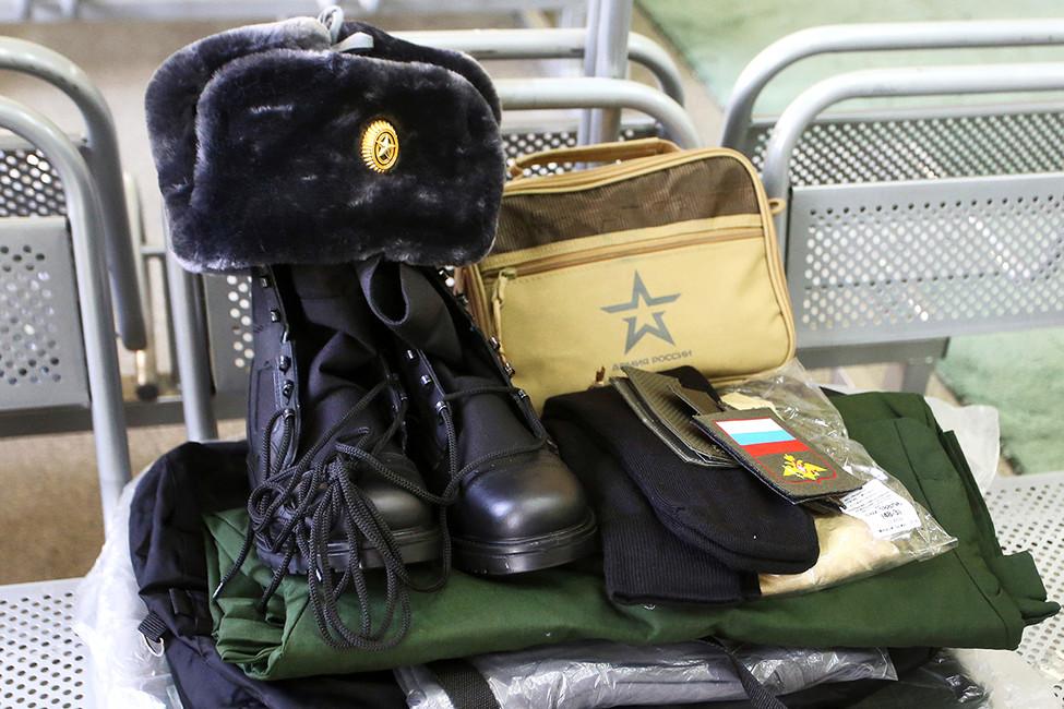 Отправной сборный пункт военнослужащих. Фото: Светлана Холявчук/ Интерпресс/ ТАСС