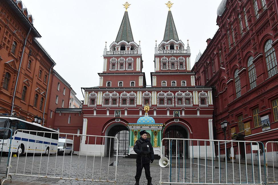 Манежная площадь, 2апреля 2017. Фото: Василий Максимов/ AFP