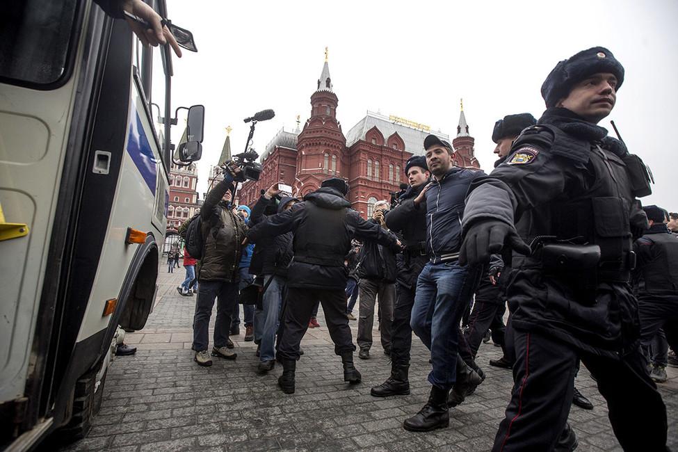 Манежная площадь, 2апреля 2017. Фото: Никита Швецов/ AFP