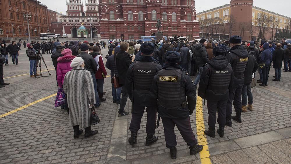 2апреля, Манежная площадь. Протестные гуляния полиции