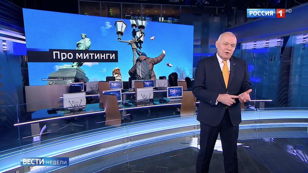 Запоздалый Киселев. Купленные школьники инежные полицейские в«Вестях недели»
