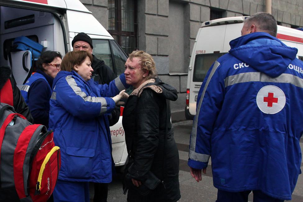 Последствия взрыва вметро вСанкт-Петербурге, 3апреля 2017года. Фото: Руслан Шамуков/ AFP