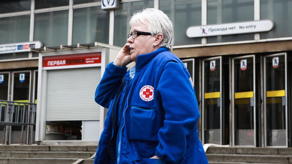 Ситуация около станции метро «Сенная площадь» после взрыва, 3апреля 2017года. Фото: Сергей Коньков/ ТАСС
