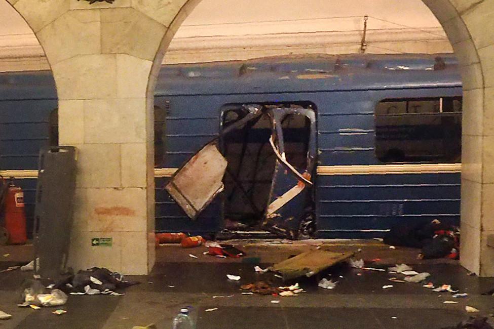 Cтанция метро «Технологический институт» впервые минуты после взрыва, 3апреля 2017. Фото: Reuters