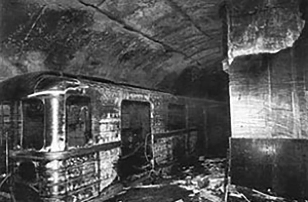 Взорванный вагон метро, 8января 1977 года