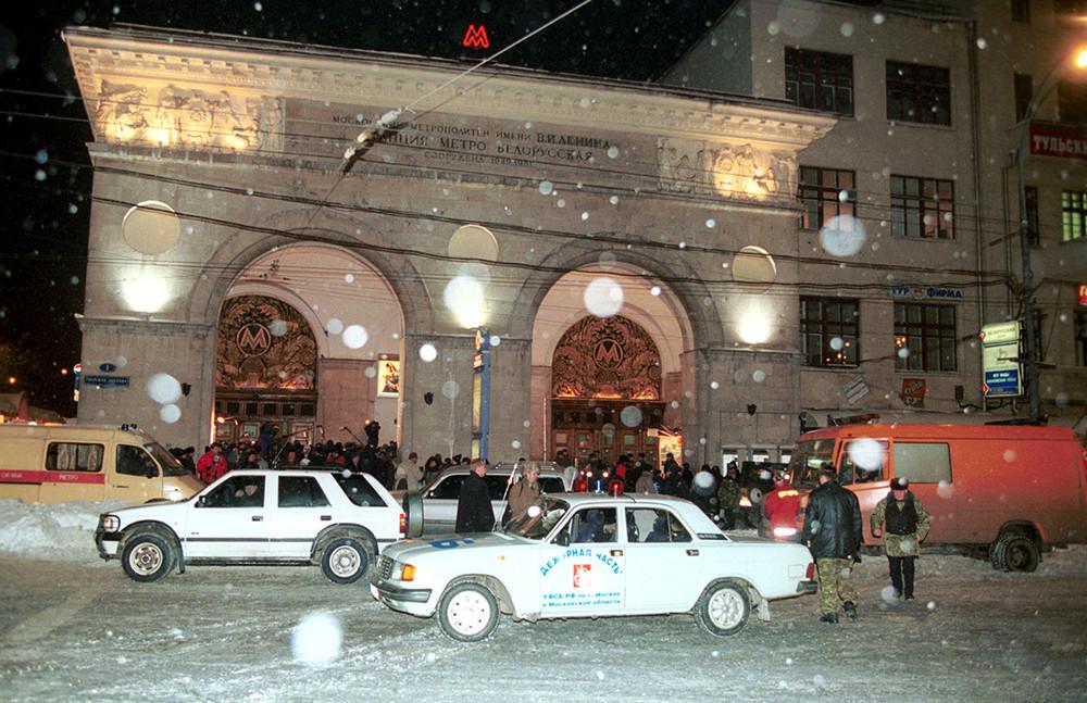 Устанции метро «Белорусская» после взрыва, 5февраля 2011год. Фото: Игоря Уткина/ ИТАР-ТАСС