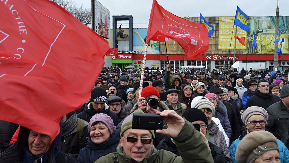 «Настоящий экстремист— это Меркушкин». ВСамаре против губернатора вышли четыре тысячи человек