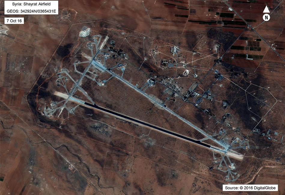 База Шайрат ВВС Сирии, 7апреля 2017года. Фото: Reuters
