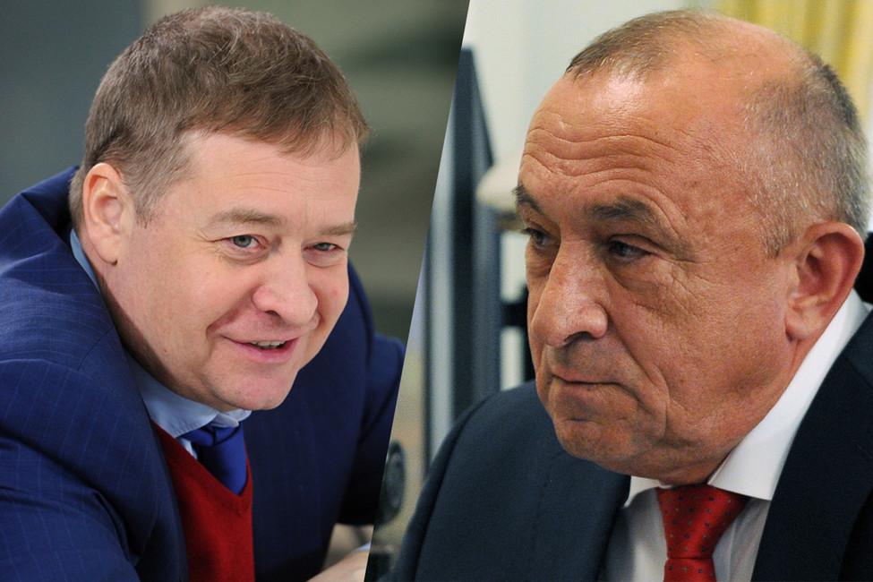 Леонид Маркелов иАлександр Соловьев (слева направо). Фото: Артем Коротаев, Михаил Клименьтев/ ТАСС