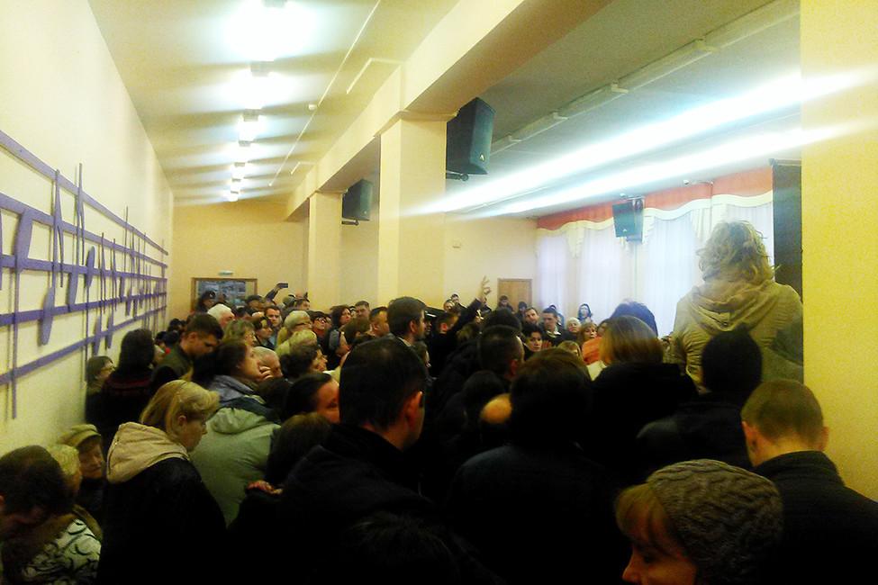 Актовый зал, где проходила встреча. Фото: Алексей Сочнев