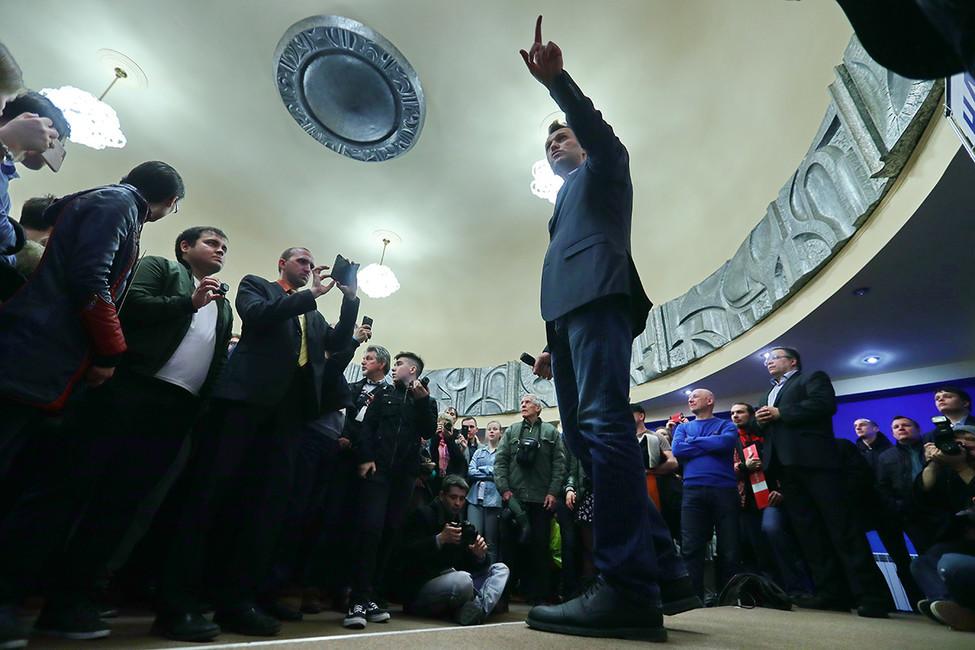 Алексей Навальный наоткрытии своего предвыборного штаба вИваново, 21апреля 2017года. Фото: Владимир Смирнов/ ТАСС