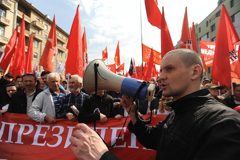 Сергей Удальцов вовремя «Марша миллионов», 6мая 2012года. Фото: Сергей Карпов/ ТАСС