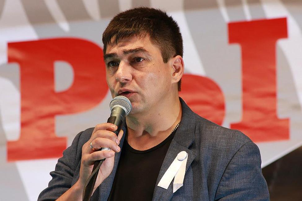 Сергей Давидис вовремя «Марша миллионов», 12июня 2012года. Фото: Мария Перфильева