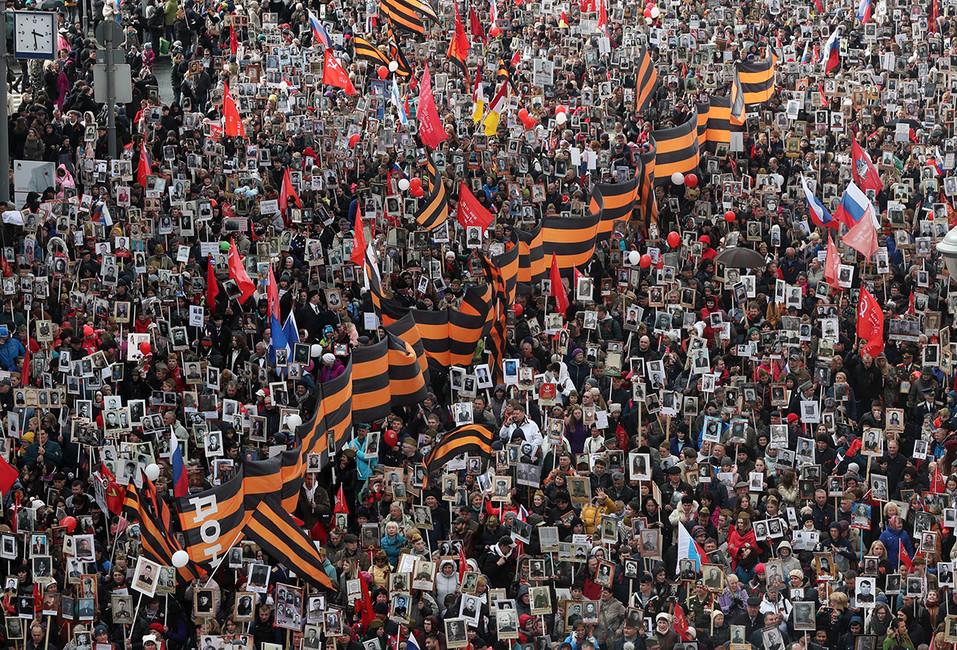 Нашествии «Бессмертного полка» вМоскве подрались армяне иазербайджанцы