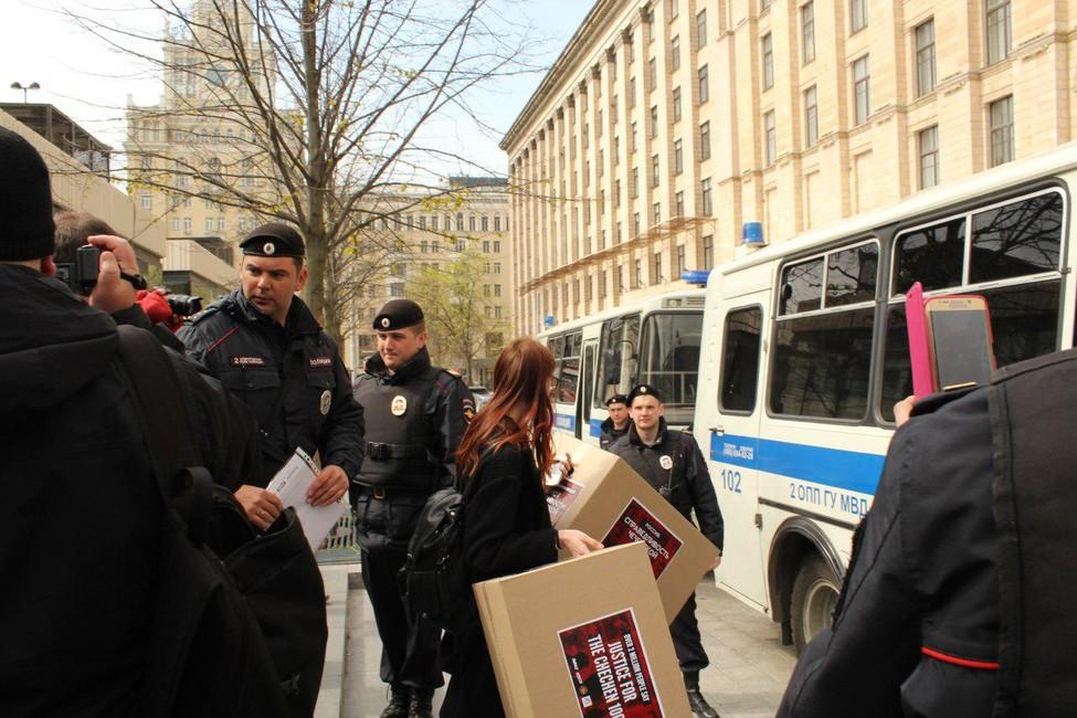 Задержание активистов. Фото: Наталья Коротоножкина