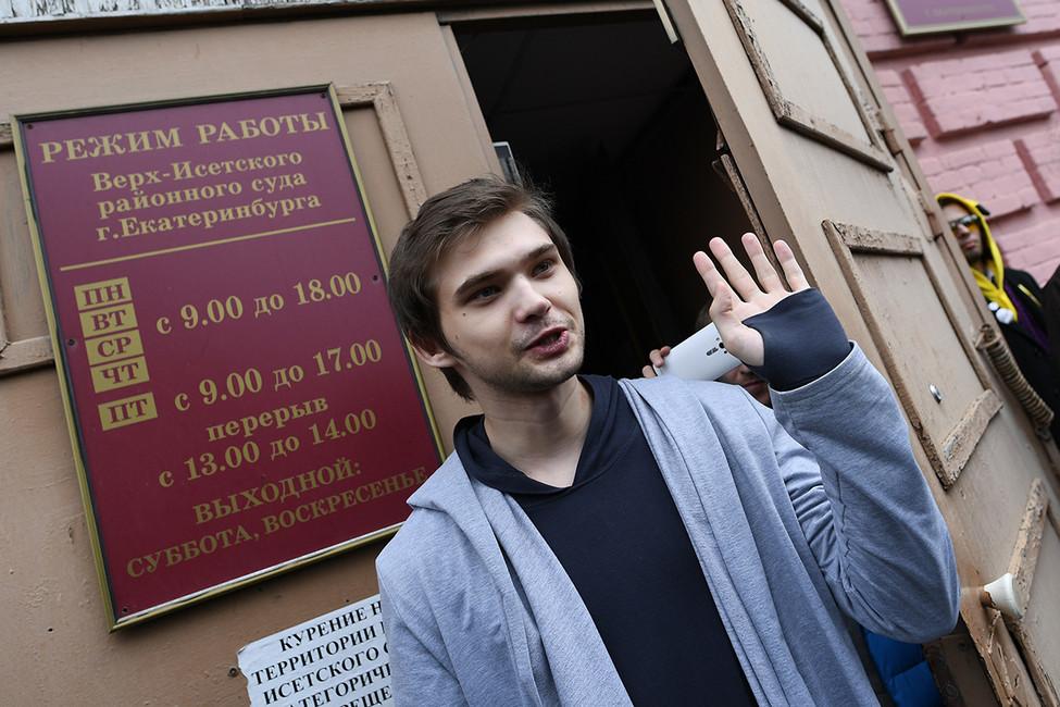 Руслан Соколовский после вынесения приговора уздания суда. Фото: Донат Сорокин/ ТАСС