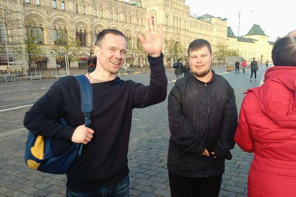 Ильдар Дадин задержан зачтение Конституции наКрасной площади