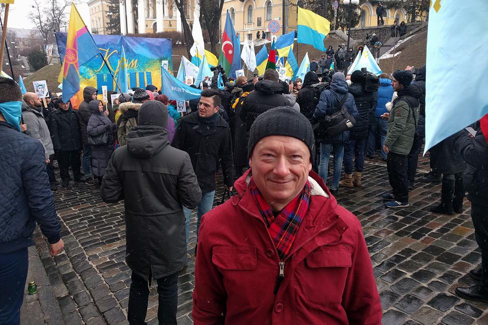 Михаил Савва нашествии вКиеве. Фото: личная страница вFacebook