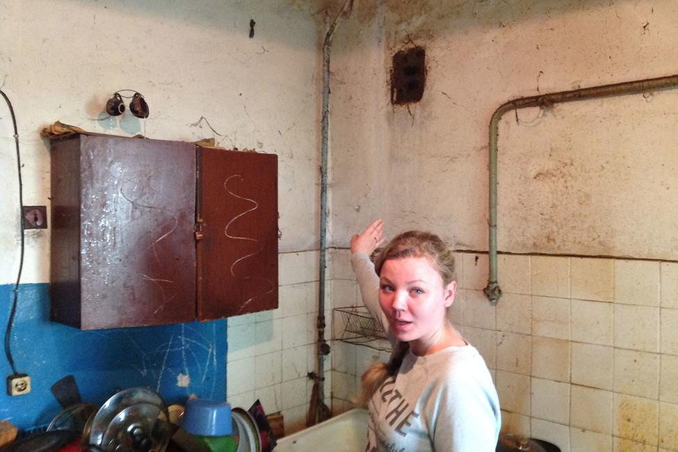 Екатерина Козлова вобщежитии поулице Красносельской. Фото: Александр Гмырин