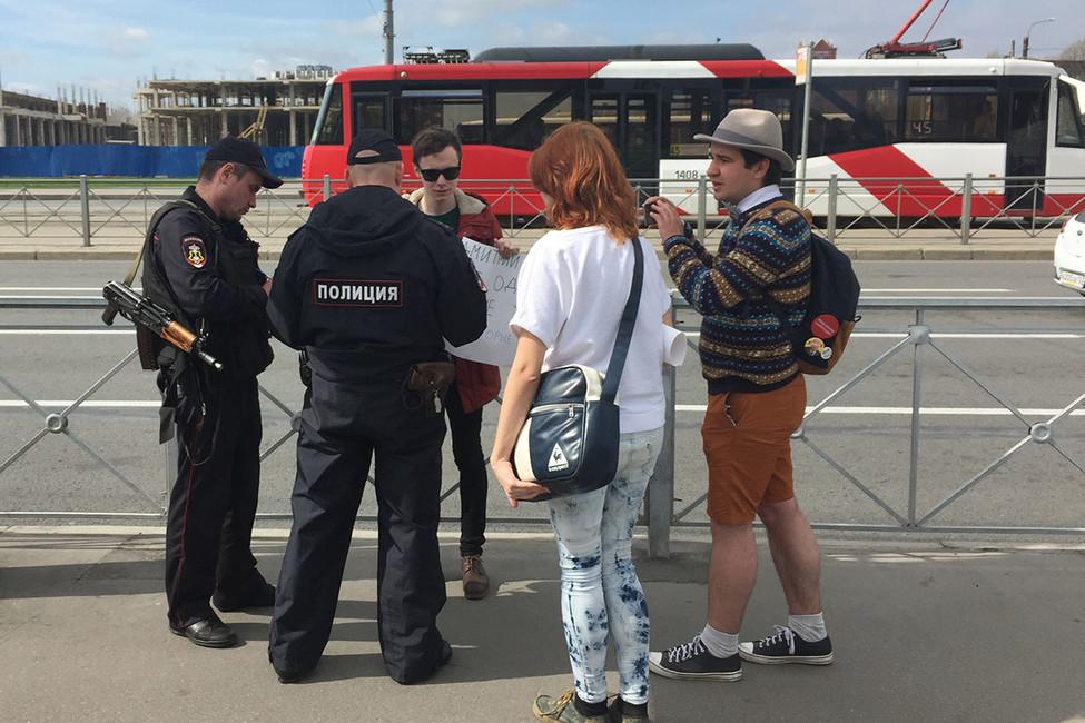 ВПетербурге прошел пикет против нарушения прав студентов