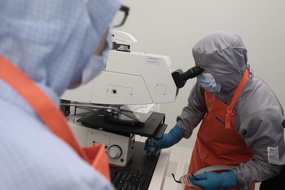 Водном изпроизводственных помещений Зеленоградского нанотехнологического центра. Фото: Денис Вышинский/ ТАСС