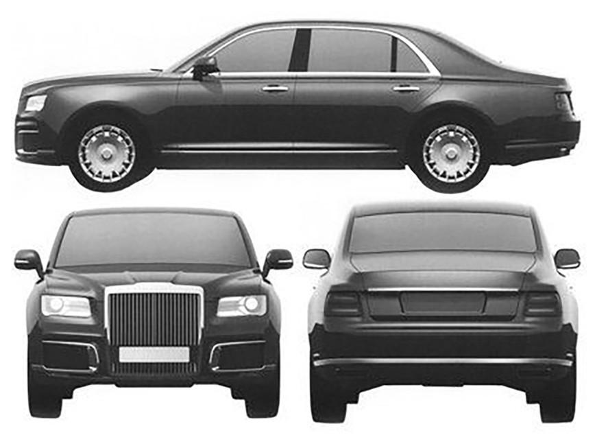 Финальный вариант дизайна президентского седана «Кортеж»